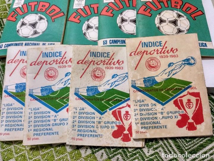 LOTE DE OCHO, 4 AGENDAS CALENDARIO LIGA 83/84 Y 4 ÍNDICES DEPORTIVOS 1939-1983 (Coleccionismo Deportivo - Documentos de Deportes - Calendarios)