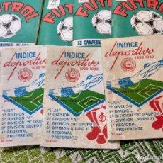 Coleccionismo deportivo: LOTE DE OCHO, 4 AGENDAS CALENDARIO LIGA 83/84 Y 4 ÍNDICES DEPORTIVOS 1939-1983. Lote 101027303
