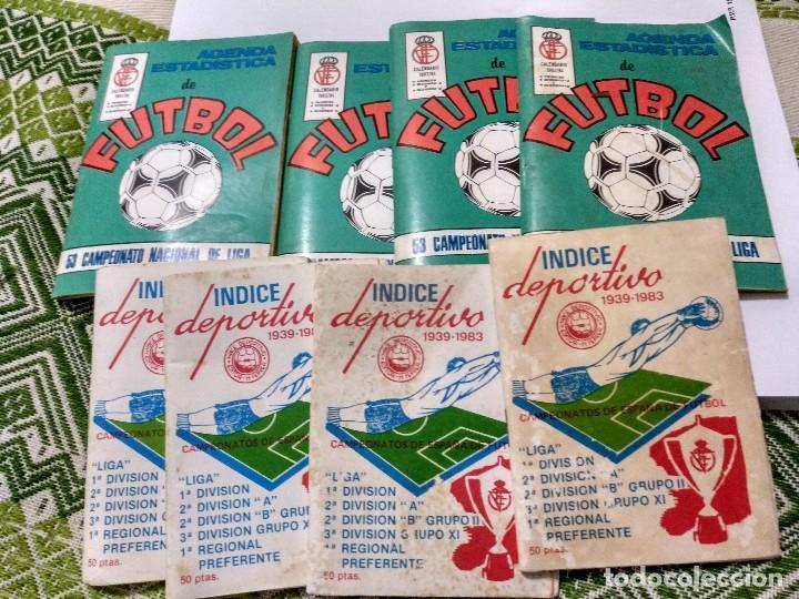 Coleccionismo deportivo: Lote de ocho, 4 agendas Calendario liga 83/84 y 4 índices deportivos 1939-1983 - Foto 3 - 101027303