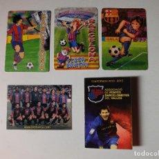 Coleccionismo deportivo: FC BARCELONA LOTE DE 5 CALENDARIOS. BARÇA . Lote 102386731