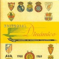 Coleccionismo deportivo: CALENDARIO DINÁMICO 1968/69 68/69. Lote 102712879