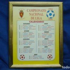 Coleccionismo deportivo: CALENDARIO CAMPEONATO NACIONAL DE LIGA 1995/1996 - REAL ZARAGOZA CAMPEÓN DE EUROPA. Lote 103444835