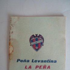 Coleccionismo deportivo: CALENDARIO DE FUTBOL Y DE LAS ACTIVIDADES DE LA PEÑA LEVANTINA DE VALENCIA. Lote 103463679
