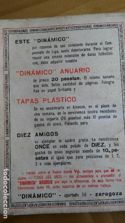 Coleccionismo deportivo: CALENDARIO DINAMICO FUTBOL LIGA AÑO 1967 - Foto 7 - 103745311