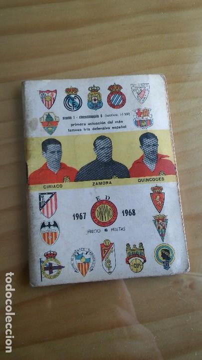 CALENDARIO DINAMICO FUTBOL LIGA AÑO 1967 (Coleccionismo Deportivo - Documentos de Deportes - Calendarios)