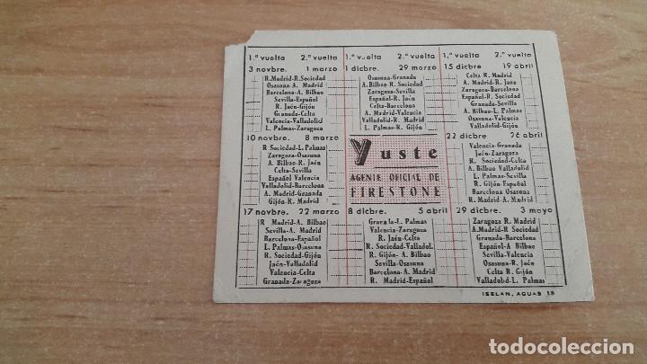 Coleccionismo deportivo: calendario deportivo futbol - campeonato de liga 1957 1958 - Foto 2 - 104792575