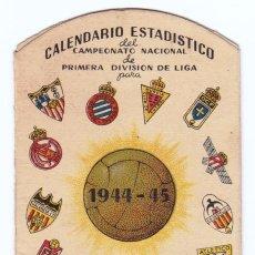 Coleccionismo deportivo: CALENDARIO 1944-45 LIGA 1ª DIV. HOJAS AFEITAR IBERIA. Lote 105219815