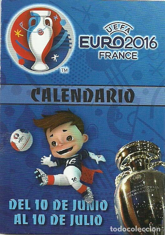 CALENDARIO PUBLICITARIO EURO2016 FRANCE (Coleccionismo Deportivo - Documentos de Deportes - Calendarios)