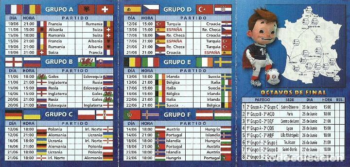 Coleccionismo deportivo: CALENDARIO PUBLICITARIO EURO2016 FRANCE - Foto 2 - 105643387