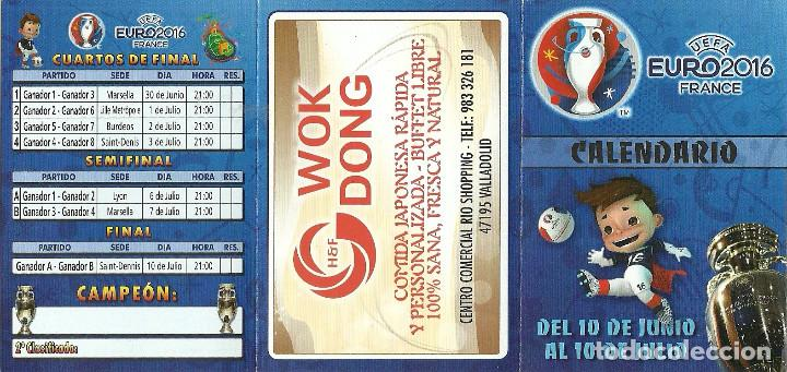 Coleccionismo deportivo: CALENDARIO PUBLICITARIO EURO2016 FRANCE - Foto 3 - 105643387