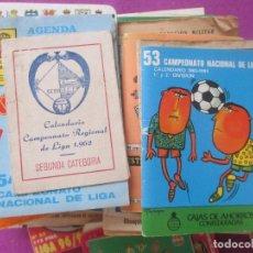 Coleccionismo deportivo: LOTE 84 CALENDARIOS QUINIELISTAS FUTBOL, CALENDARIO QUINIELA, VARIOS AÑOS, VER FOTOS . Lote 107454075
