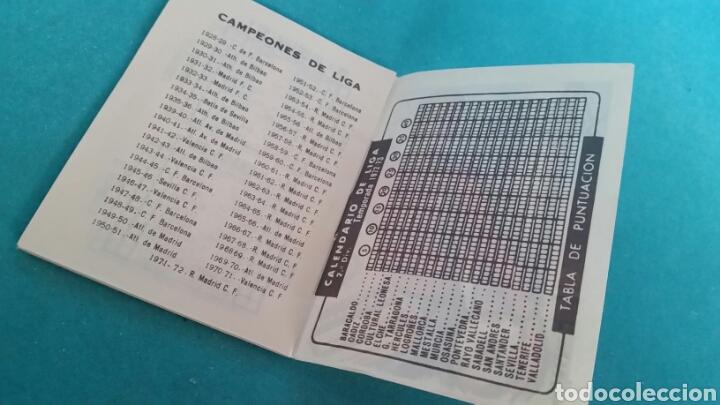 Coleccionismo deportivo: CALENDARIO LIGA 72 -73 PUBLICIDAD GOYA NUEVO. NO COPIA - Foto 4 - 107559938