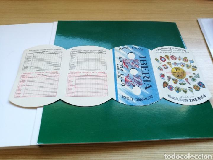 CALENDARIO DE LIGA ESPAÑOLA DE FÚTBOL. PRIMERA Y SEGUNDA DIVISIÓN. 1946-47. CUCHILLAS AFEITAR IBERIA (Coleccionismo Deportivo - Documentos de Deportes - Calendarios)