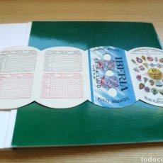 Coleccionismo deportivo: CALENDARIO DE LIGA ESPAÑOLA DE FÚTBOL. PRIMERA Y SEGUNDA DIVISIÓN. 1946-47. CUCHILLAS AFEITAR IBERIA. Lote 108374527