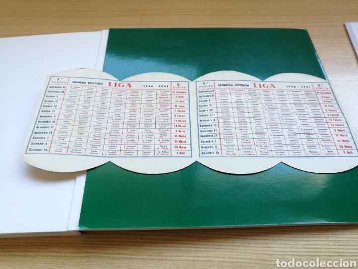 Coleccionismo deportivo: Calendario de Liga española de fútbol. Primera y segunda División. 1946-47. Cuchillas afeitar Iberia - Foto 2 - 108374527