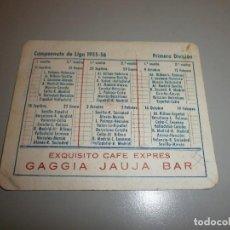 Coleccionismo deportivo: CALENDARIO DEPORTIVO TEMPORADA 1955 56. Lote 109859655