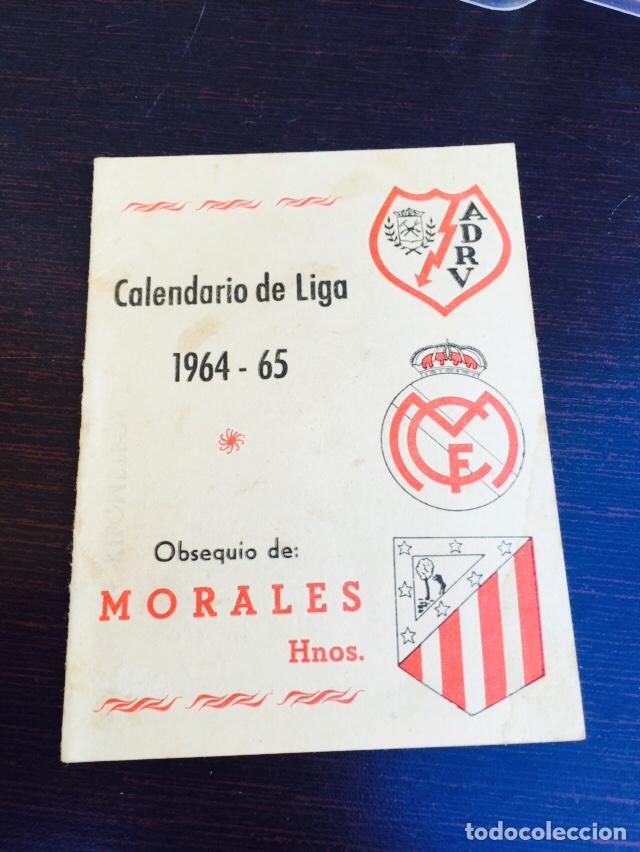 CALENDARIO DE FÚTBOL TEMPORADA 64-65 (Coleccionismo Deportivo - Documentos de Deportes - Calendarios)