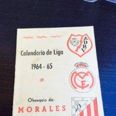 Coleccionismo deportivo: CALENDARIO DE FÚTBOL TEMPORADA 64-65. Lote 110099128