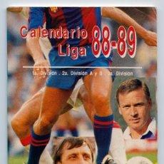 Coleccionismo deportivo: CALENDARIO LIGA 88-89 - 1ª. DIVISION - 2ª DIVISION A Y B - 3ª. DIVISION - SPORT. Lote 110446035