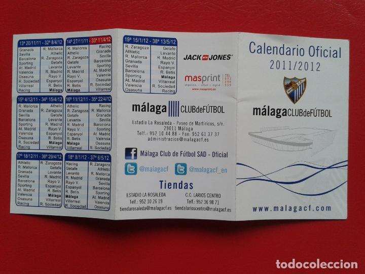 Calendario 2011 Espana.Calendario Oficial Liga Bbva Espana 1ª Division Temporada 11 12 2011 2012 Malaga Club De Futbol
