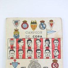 Coleccionismo deportivo: ANTIGUO CALENDARIO DE FÚTBOL - CAMPEÓN DE COPA 1955-1956 - EDICIONES DINÁMICO - AÑO 1955. Lote 111947723