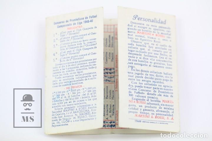 Coleccionismo deportivo: Antiguo Calendario De Fútbol - Campeonato De Liga 1ª División 1945-1946 - Martini Rossi - Año 1945 - Foto 3 - 111949359