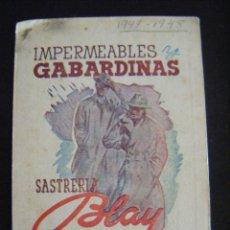 Coleccionismo deportivo: JML FUTBOL CALENDARIO CAMPEONATO DE LIGA 1947 - 48 IMPERMEHABLES Y GABARDINAS SASTRERIA BLAY BILBAO. Lote 112325879