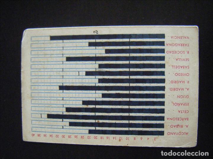 Coleccionismo deportivo: JML FUTBOL CALENDARIO CAMPEONATO DE LIGA 1947 - 48 IMPERMEHABLES Y GABARDINAS SASTRERIA BLAY BILBAO - Foto 3 - 112325879