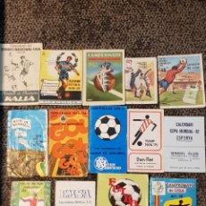 Coleccionismo deportivo: 14 CALENDARIOS LIGA FÚTBOL 44-45 49-50 50-51 69-70 72-73 73-74 74-75 76-77 77-78 M82. Lote 112409712