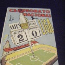 Coleccionismo deportivo: JML CALENDARIO FUTBOL CAMPEONATO NACIONAL DE LIGA TEMPORADA 1946 - 47 VINOS Y LICORES QUIRICO LÓPEZ.. Lote 113684319
