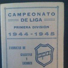 Coleccionismo deportivo: DÍPTICO CALENDARIO LIGA 1944-1945. PUBLICIDAD DE ORENSE. VER FOTOS.. Lote 114556019