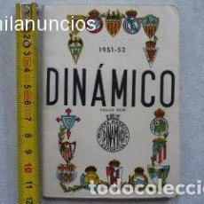 Coleccionismo deportivo: CALENDARIO FUTBOL ANTIGUO 1951-52. Lote 114747439