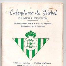 Coleccionismo deportivo: CALENDARIO PÚBLICITARIO DE FUTBOL PRIMERA DIVISIÓN 1975-76 (ESCUDO REAL BETIS BALOMPIE).. Lote 114981435