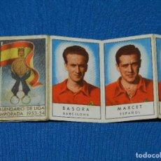 Coleccionismo deportivo: CALENDARIO DE LIGA TEMPARADA 1953 - 54 , IMAGENES DEL EQUIPO DE LA SELECCION ESPAÑOLA, GAINZA , ETC. Lote 115905939