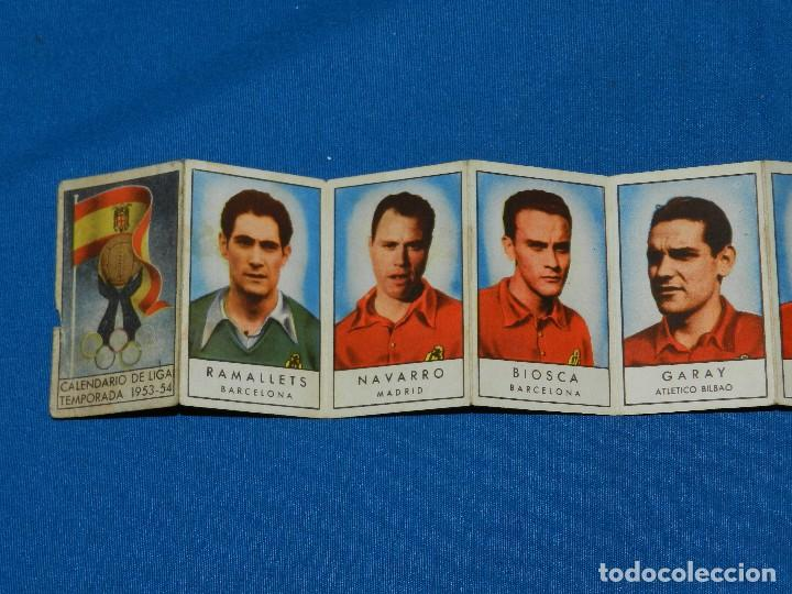 Coleccionismo deportivo: CALENDARIO DE LIGA TEMPARADA 1953 - 54 , IMAGENES DEL EQUIPO DE LA SELECCION ESPAÑOLA, GAINZA , ETC - Foto 2 - 115905939