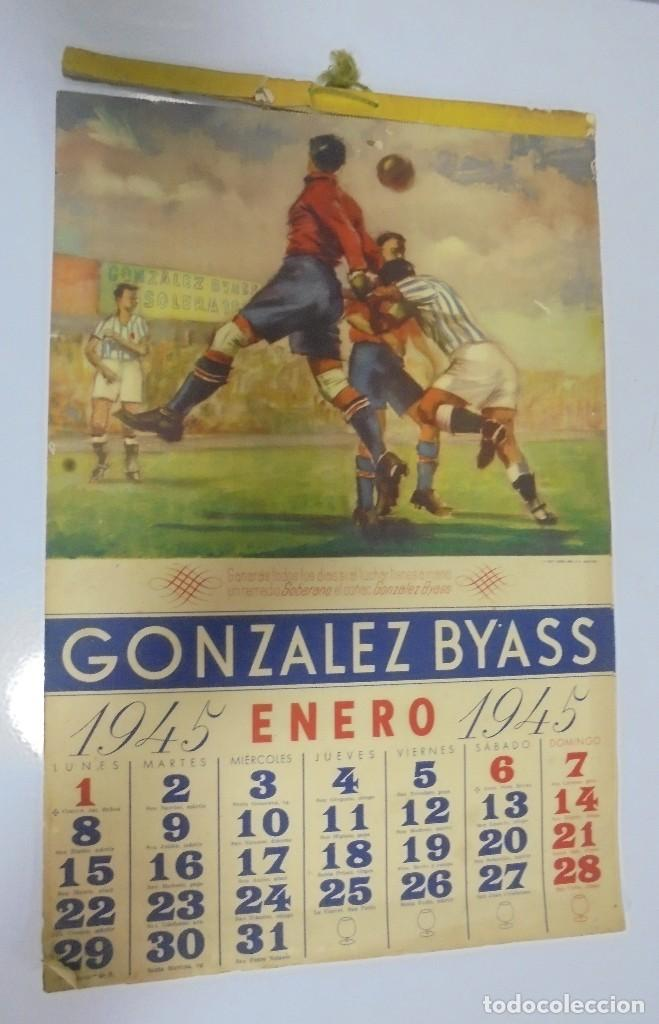 CALENDARIO DEPORTIVO. PUBLICITARIO GONZALEZ BYASS. 1945. COMPLETO. VER (Coleccionismo Deportivo - Documentos de Deportes - Calendarios)