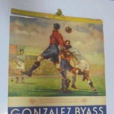 Coleccionismo deportivo: CALENDARIO DEPORTIVO. PUBLICITARIO GONZALEZ BYASS. 1945. COMPLETO. VER. Lote 117016543