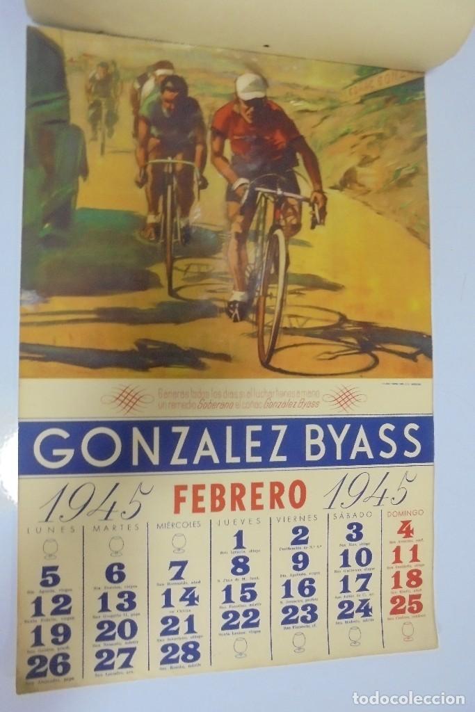 Coleccionismo deportivo: CALENDARIO DEPORTIVO. PUBLICITARIO GONZALEZ BYASS. 1945. COMPLETO. VER - Foto 2 - 117016543