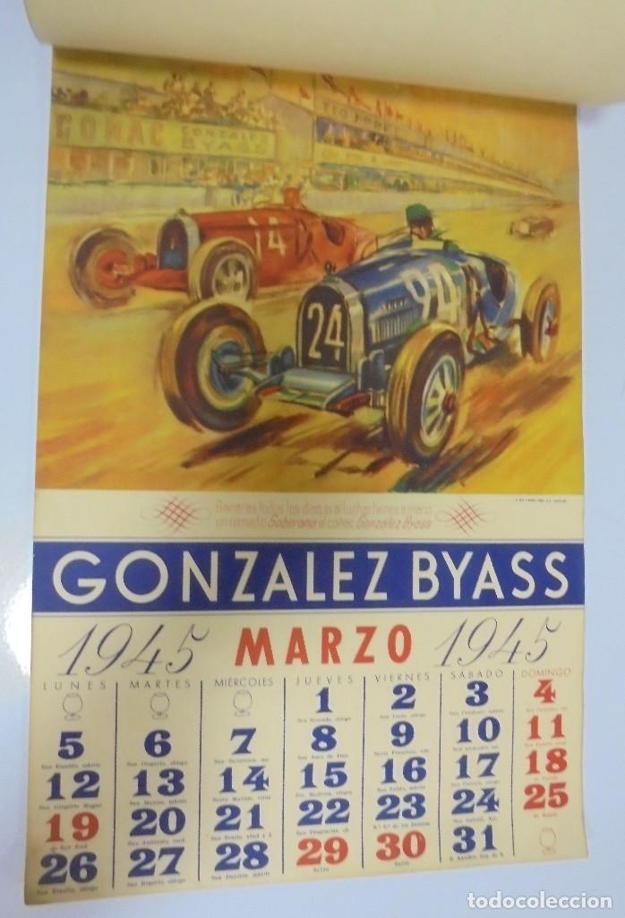 Coleccionismo deportivo: CALENDARIO DEPORTIVO. PUBLICITARIO GONZALEZ BYASS. 1945. COMPLETO. VER - Foto 3 - 117016543