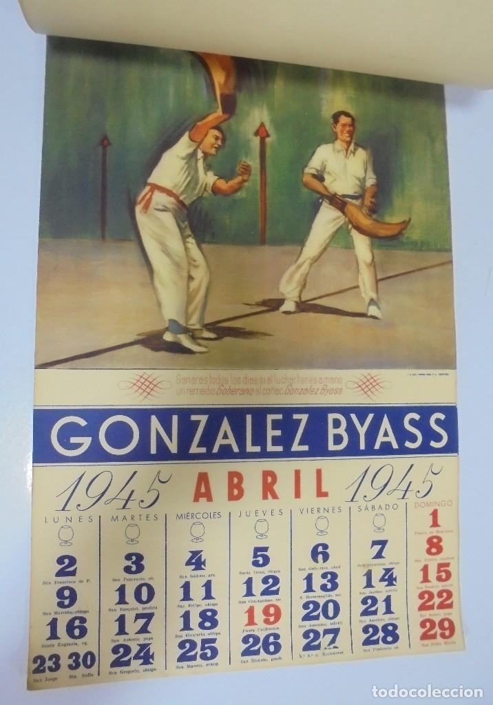 Coleccionismo deportivo: CALENDARIO DEPORTIVO. PUBLICITARIO GONZALEZ BYASS. 1945. COMPLETO. VER - Foto 4 - 117016543