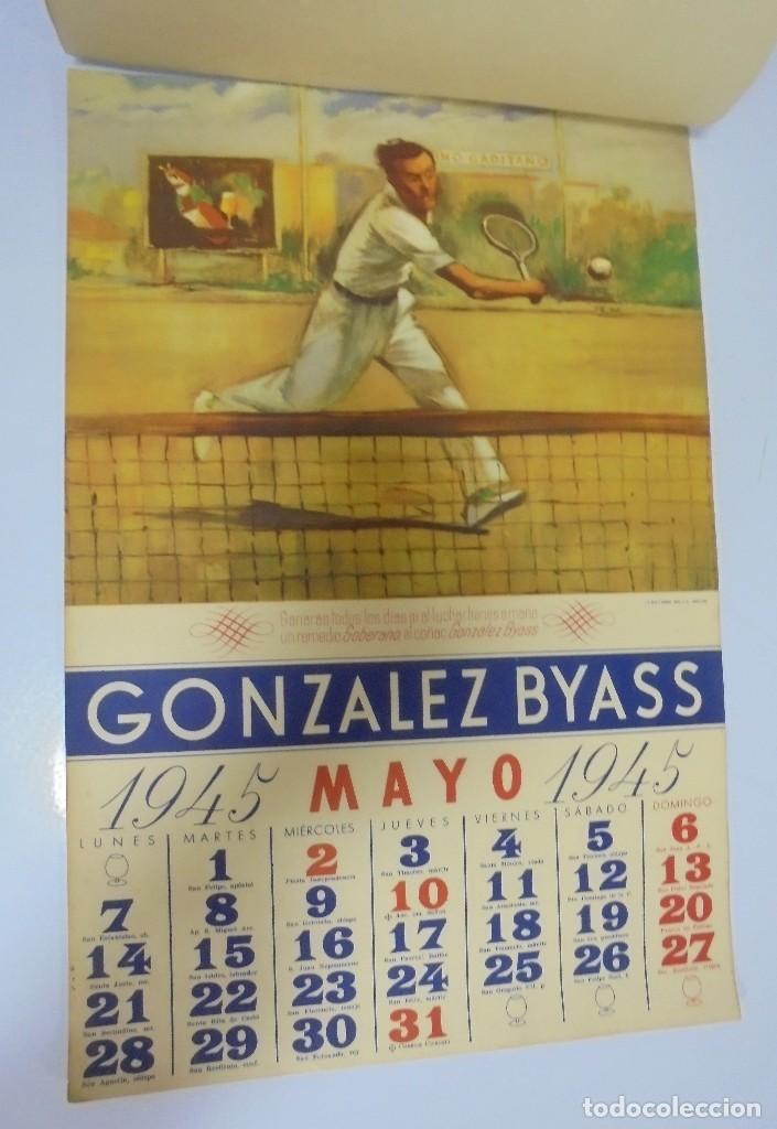 Coleccionismo deportivo: CALENDARIO DEPORTIVO. PUBLICITARIO GONZALEZ BYASS. 1945. COMPLETO. VER - Foto 5 - 117016543