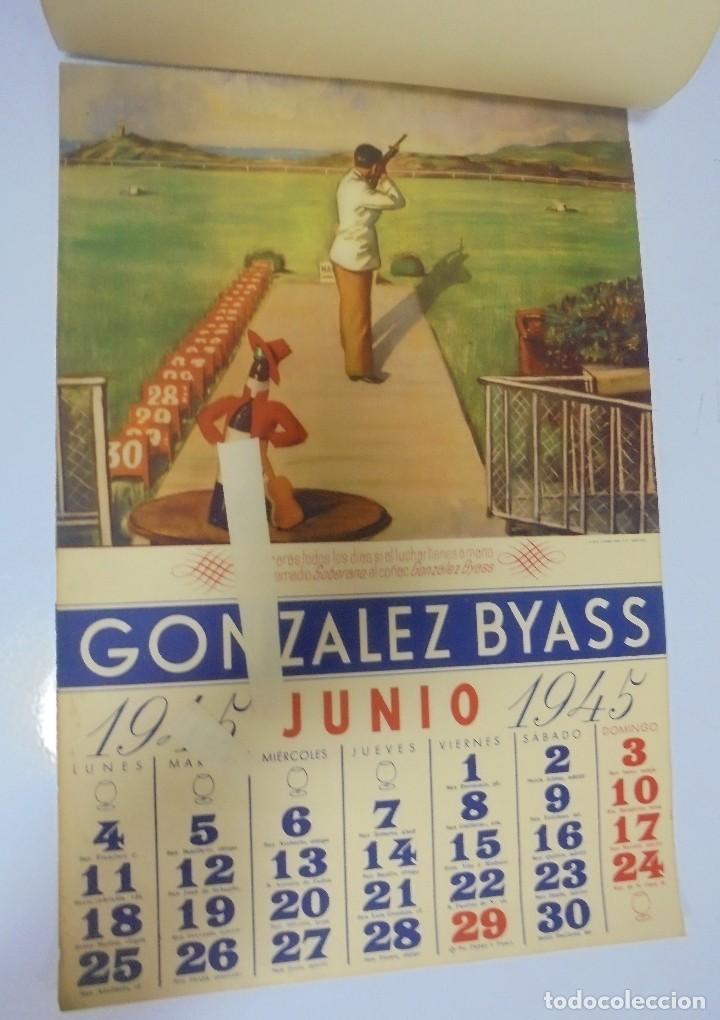 Coleccionismo deportivo: CALENDARIO DEPORTIVO. PUBLICITARIO GONZALEZ BYASS. 1945. COMPLETO. VER - Foto 6 - 117016543