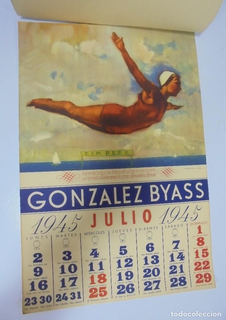 Coleccionismo deportivo: CALENDARIO DEPORTIVO. PUBLICITARIO GONZALEZ BYASS. 1945. COMPLETO. VER - Foto 7 - 117016543