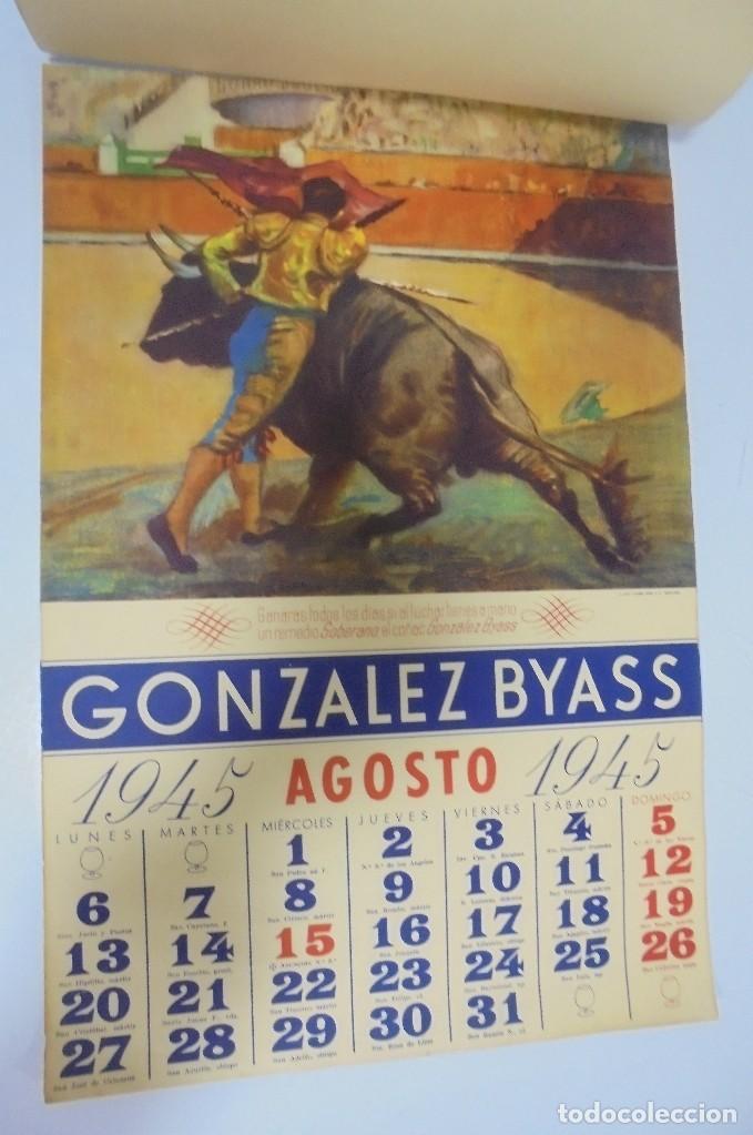 Coleccionismo deportivo: CALENDARIO DEPORTIVO. PUBLICITARIO GONZALEZ BYASS. 1945. COMPLETO. VER - Foto 8 - 117016543