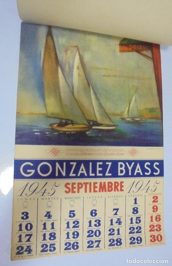 Coleccionismo deportivo: CALENDARIO DEPORTIVO. PUBLICITARIO GONZALEZ BYASS. 1945. COMPLETO. VER - Foto 9 - 117016543