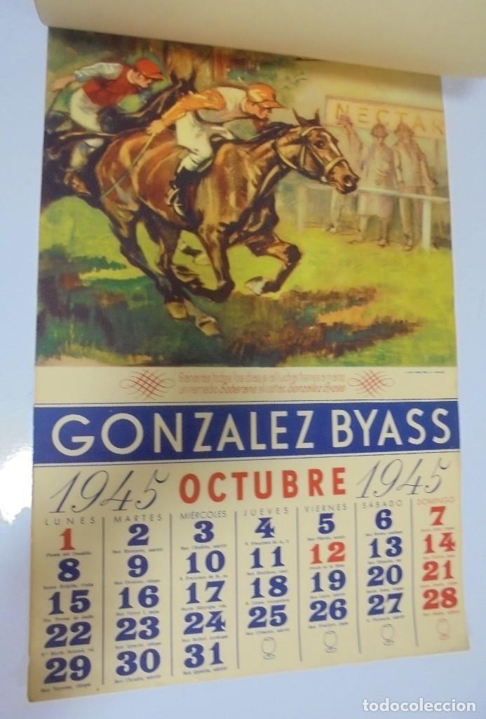 Coleccionismo deportivo: CALENDARIO DEPORTIVO. PUBLICITARIO GONZALEZ BYASS. 1945. COMPLETO. VER - Foto 10 - 117016543