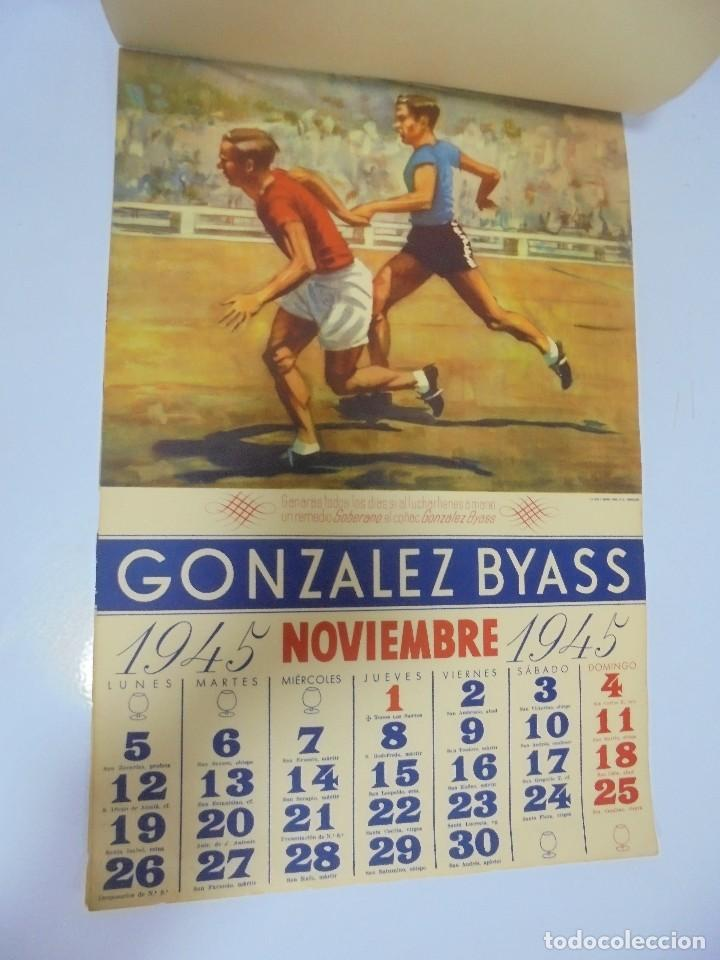 Coleccionismo deportivo: CALENDARIO DEPORTIVO. PUBLICITARIO GONZALEZ BYASS. 1945. COMPLETO. VER - Foto 11 - 117016543