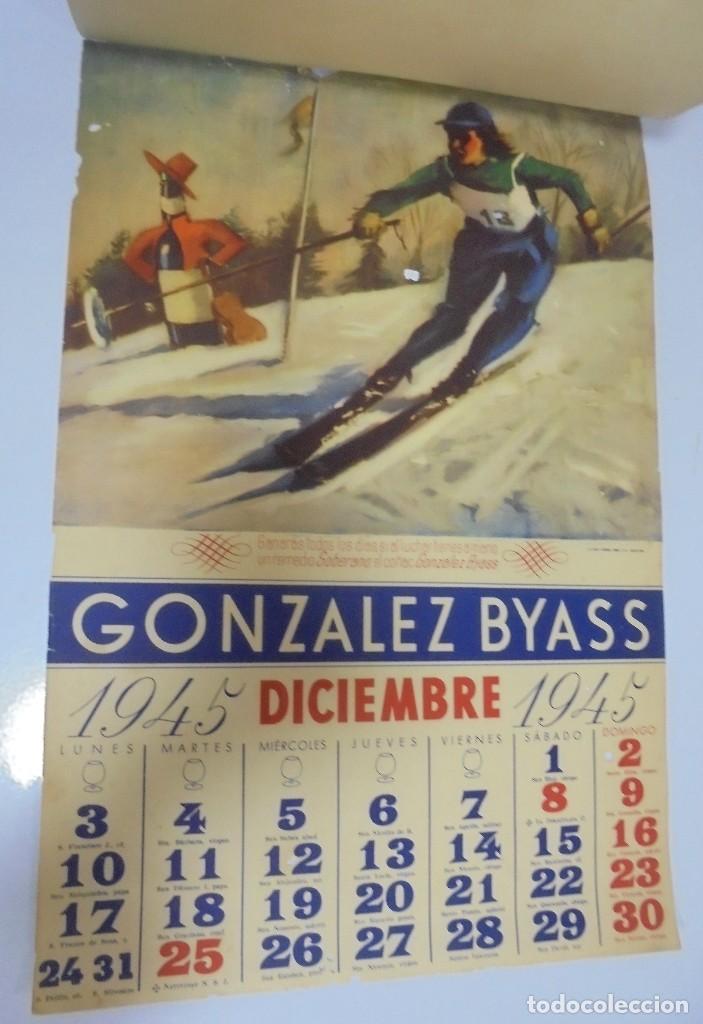 Coleccionismo deportivo: CALENDARIO DEPORTIVO. PUBLICITARIO GONZALEZ BYASS. 1945. COMPLETO. VER - Foto 12 - 117016543