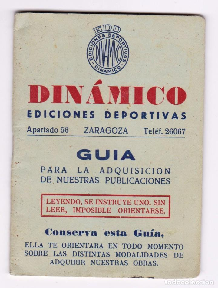 DINÁMICO GUIA 1956. EXCELENTE ESTADO (Coleccionismo Deportivo - Documentos de Deportes - Calendarios)