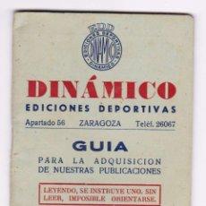 Coleccionismo deportivo: DINÁMICO GUIA 1956. EXCELENTE ESTADO. Lote 117328907